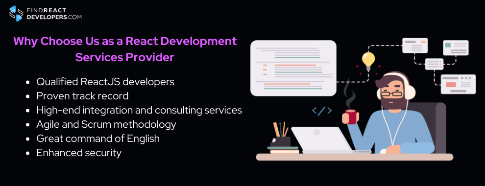 why use our react development services