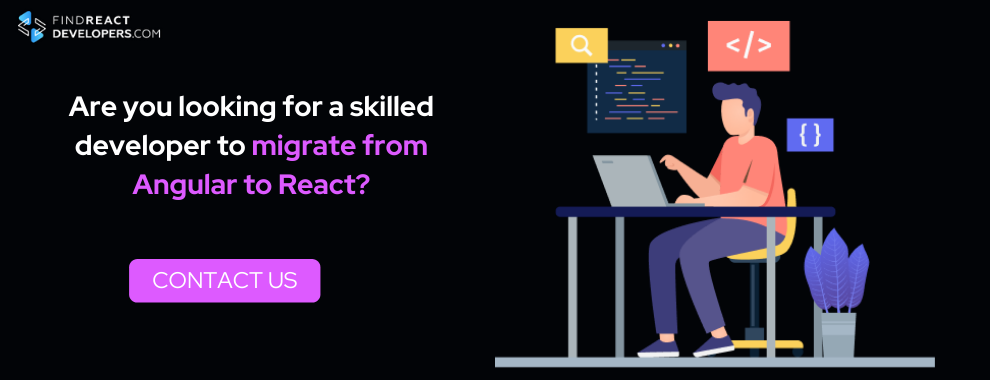 hire programmer for switching from angular to react